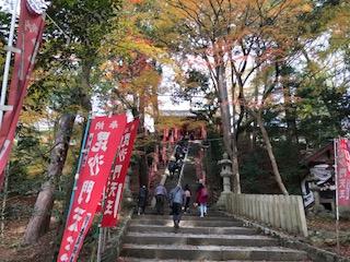 毘沙門堂階段